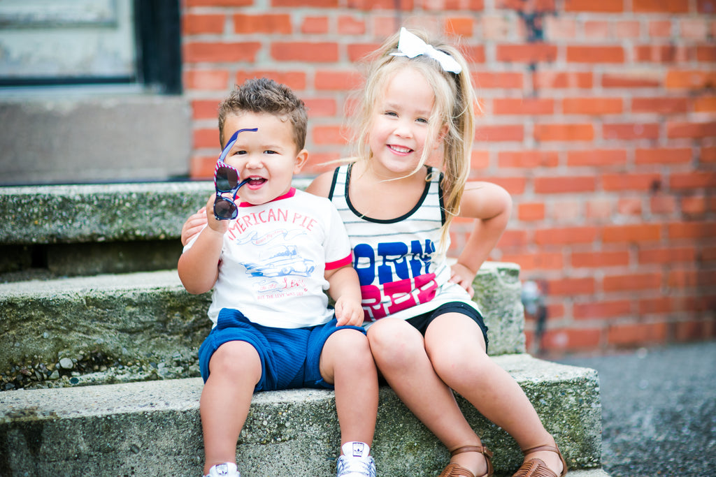 red white and blue outfits for siblings