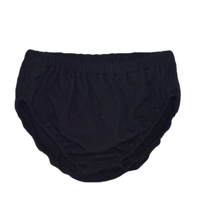 Infant diaper cover black