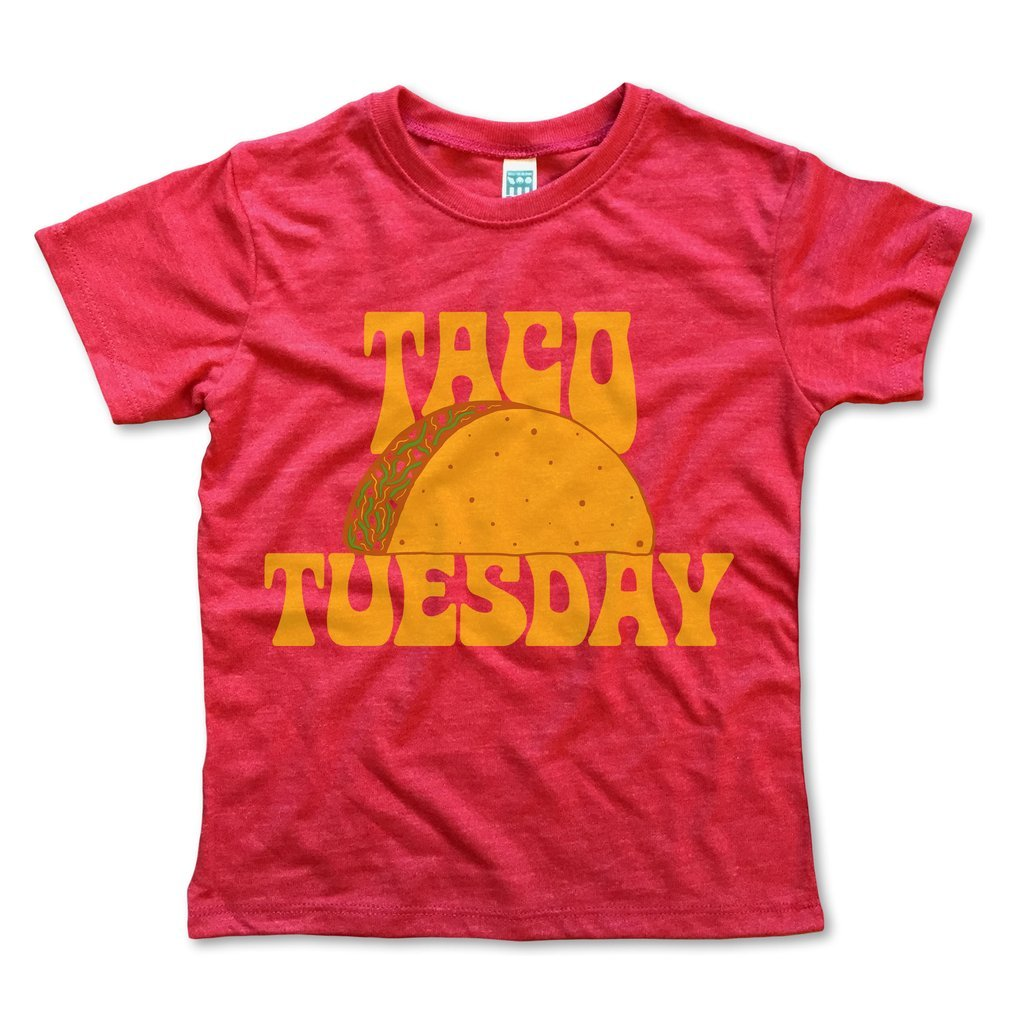Rivet Kids - Taco Tuesday Tee in Red (Size 6/8)