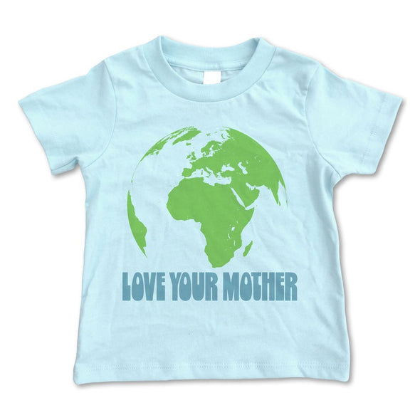 Rivet Kids - Love Your Mother Tee in Ice Blue