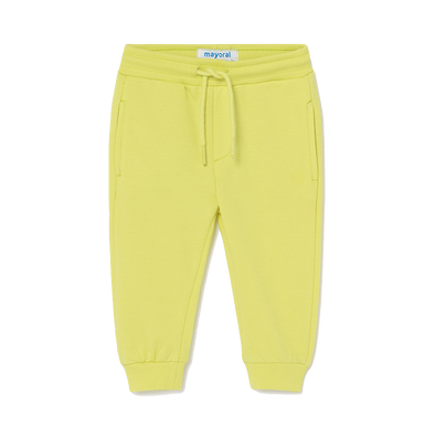 Mayoral - Baby Drawstring Fleece Joggers in Lemongrass