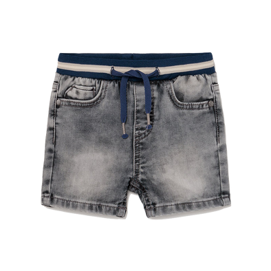 Mayoral - Baby Soft Waist Denim Shorts in Grey