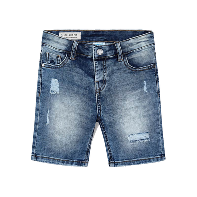 Mayoral boys distressed denim shorts