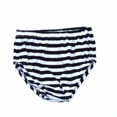 Baby diaper cover black and white stripes