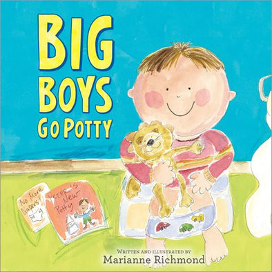 Big Boys Go Potty - Hardcover Book