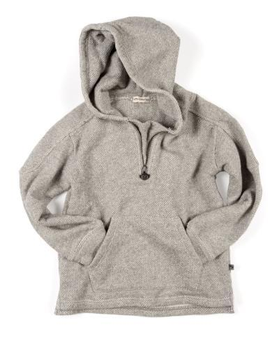 Appaman - Boys Half-Zip Hoodie in Sea Salt (Size 6)