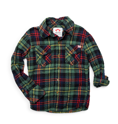 Appaman green plaid flannel shirt