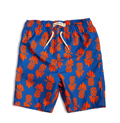 Appaman - Boys Mid Length Trunk in Orange Pineapple