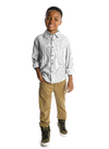 Appaman - Boys Remy Shirt in Grey Scale Stripe