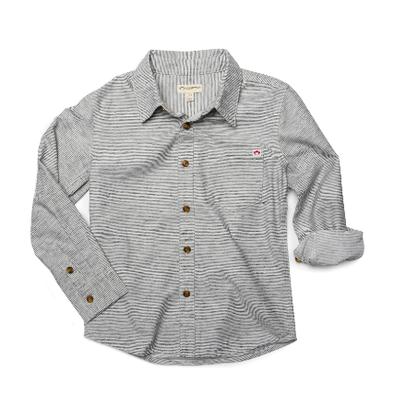 Appaman Remy shirt in grey stripes
