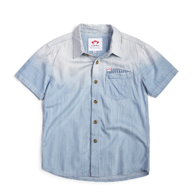 Appaman Boys Short Sleeve Denim Button Up Chambray