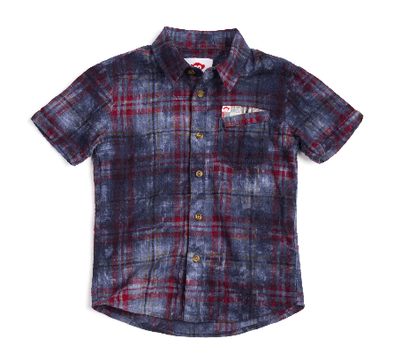 Appaman - Boys Short Sleeve Button Up in Plaid