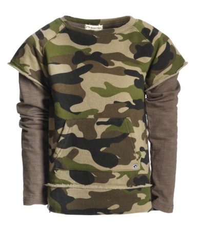 Appaman camo twofer sweatshirt