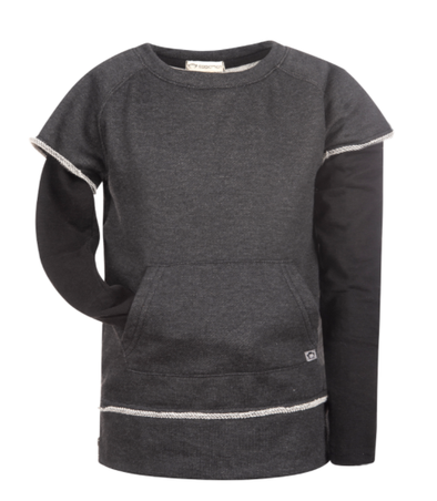 Appaman freestyle sweatshirt heather charcoal