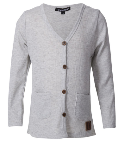 Beau Hudson light heather grey cardigan