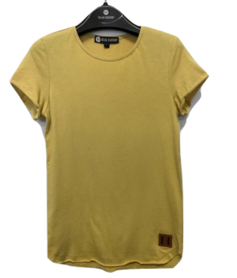 Beau Hudson raw edge tall tee mustard