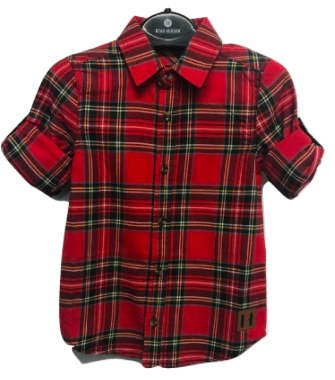 Beau Hudson red tartan plaid flannel shirt