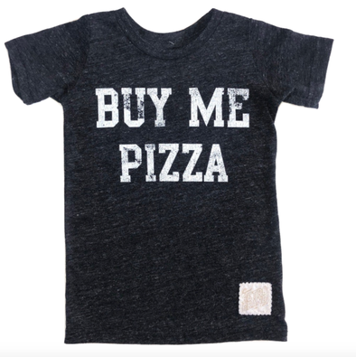 Buy me pizza kids tee