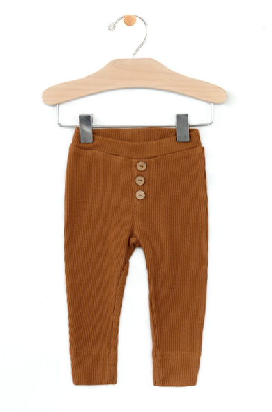 City Mouse - Baby Rib Cuff Pant in Toffee