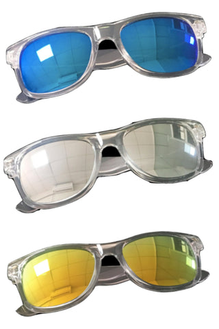 Children's Clear Frame Sunglasses - Three Colors Available