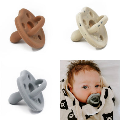 Infant silicone pacifier by Dearest Grey