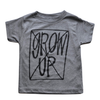 Roman & Leo - Don't Grow Up Tee in Heather Grey