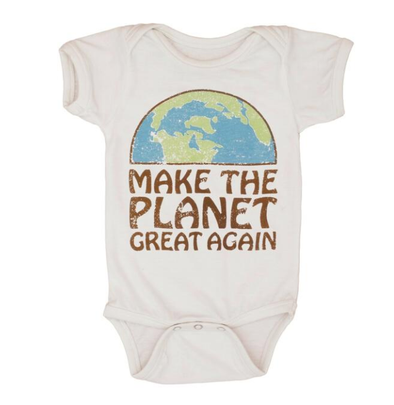 Feather 4 Arrow - Make the Planet Great Again Onesie in Natural