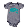 Handsome baby onesie heather grey