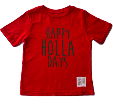 Retro Brand - Happy Holla Days in Red (Size 2T and 6)