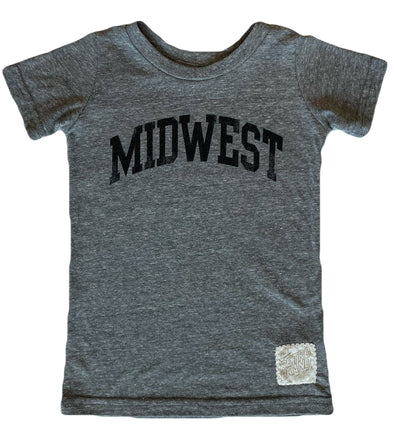 Kids Midwest tee in heather grey
