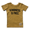 Kindness is Free kids tee yellow