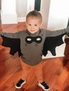 Rock Your Kid - Super Hero Cape Long Sleeve in Charcoal (Size 4)