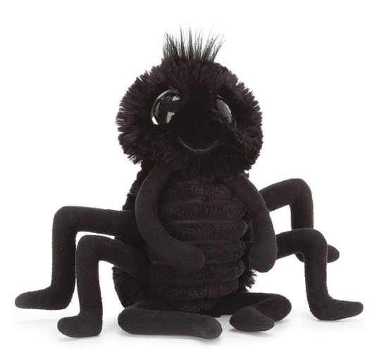 """Jellycat - Frizzles Spider in Black - 8"""""""