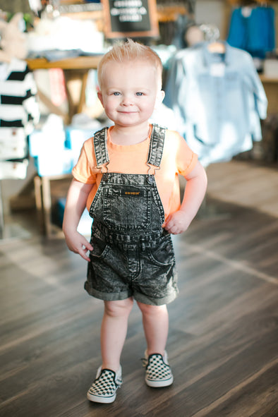 Beau Hudson black acid wash overalls