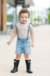 baby boys suspender jean shorts