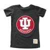 Retro Brand - Kids Vintage Indiana University IU Hoosiers Tee in Heather Black