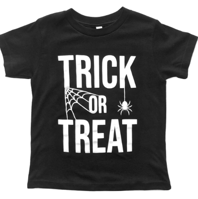 Roman & Leo - Trick or Treat Tee in Black (Size 2T and 5)