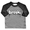 Broski Raglan in Heather Grey and Black