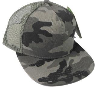 kids grey camo trucker hat
