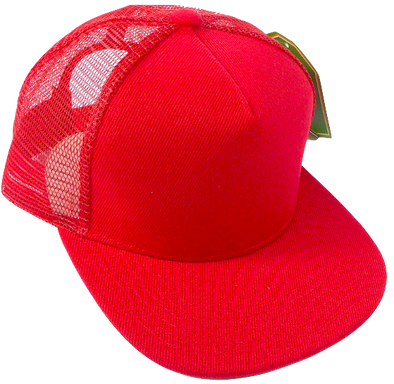 Kids red trucker hat
