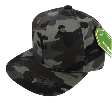 Baby and Children's Camo SnapBack Hat in Grey
