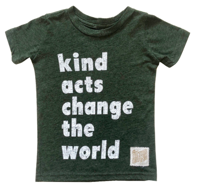 Kind acts change the world kids tee