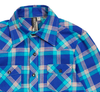 Knuckleheads - Boys Flannel Plaid Shirt in Ice Blue