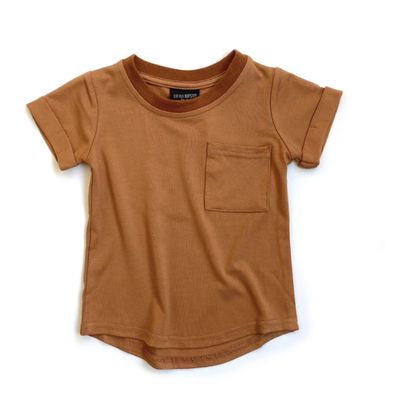 Little Bipsy - Basic Pocket Tee in Rust (Size 12-18mo)