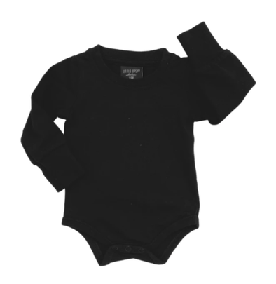 Little Bipsy black onesie