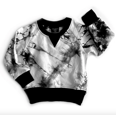 Little Bipsy - Tie Dye Pullover Sweatshirt in Black (Size 18-24mo and 4-5T)