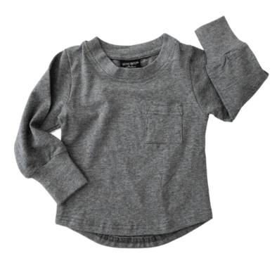 Little Bipsy charcoal pocket tee