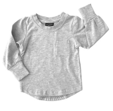 Little Bipsy grey pocket tee