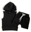 Little Bipsy - Sleeveless Hoodie in Black