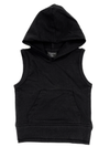 Little Bipsy sleeveless hoodie in black
